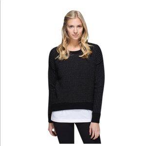Lululemon Crew Side Zipper Sweater 6 EUC Rare